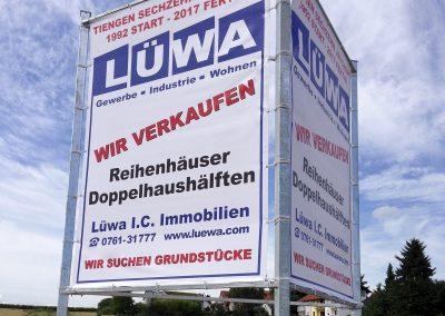 Banner, Stahlgerüst