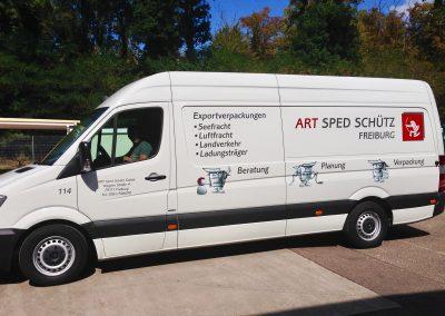 Transporter Beschriftung, Digitaldruck, Folienaufkleber, Folieschriften.