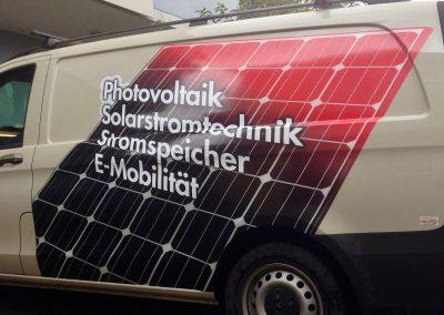 Transporterbeschriftung, Lieferwagenbeschriftung Digitaldruck.