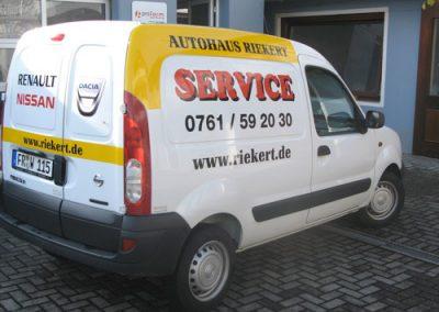Fahrzeugbeschriftung, Transporterbeschriftung