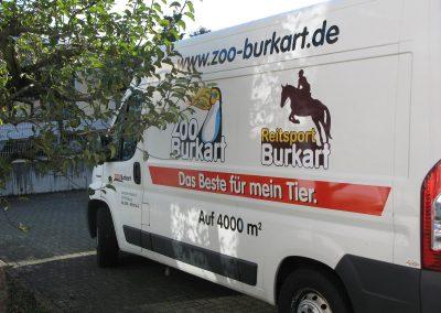Firmenfahrzeug Werbung, Autobeschriftung.